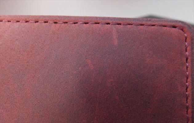 ナポレオンカーフの表面のキズ