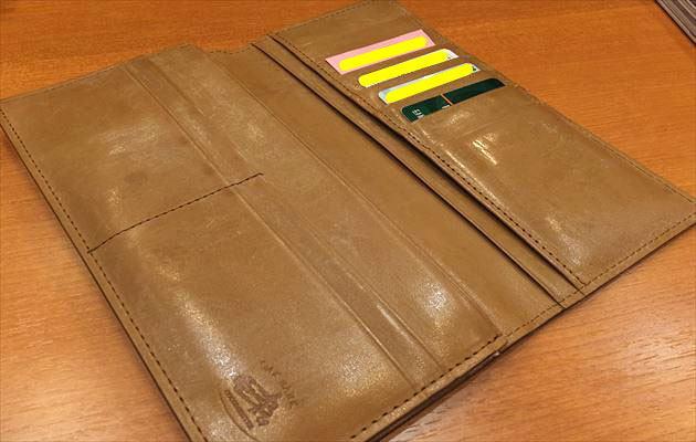 ココマイスター社員さんの財布を見せてもらいました