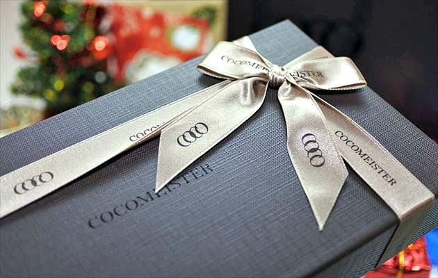 彼氏にクリスマスプレゼントとしてココマイスターの財布を贈った写真