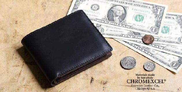 クロムエクセルレザー二つ折り財布