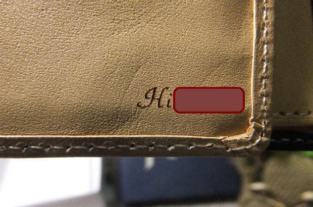 名入れ 財布 写真