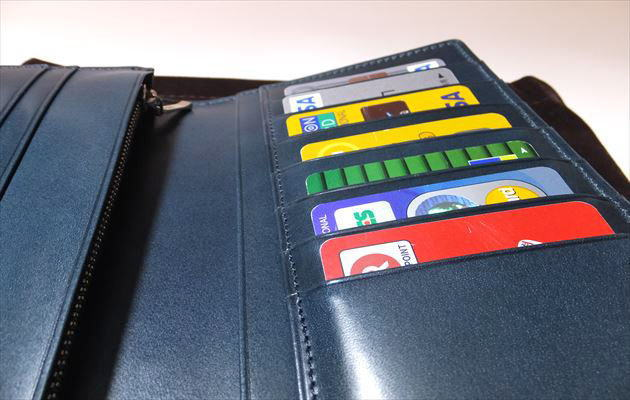 クレジットカード入れてみた写真