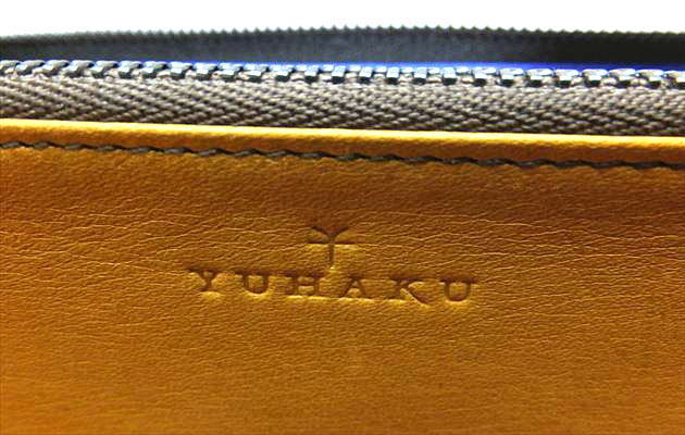 内装のYUHAKUのロゴ