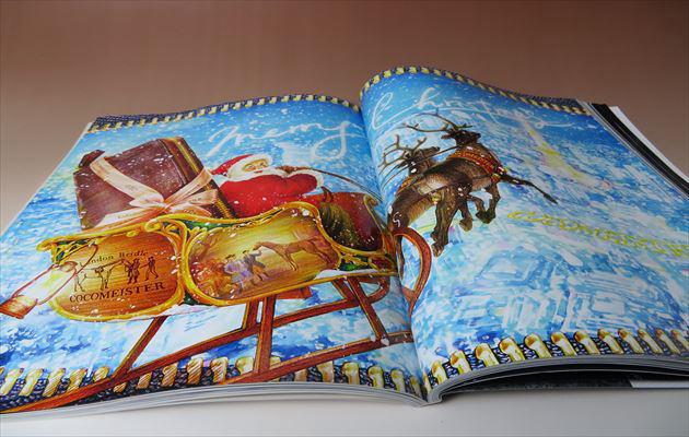 LEON2月号 見開きで紹介されているココマイスターのクリスマスメッセージ・イラストの写真