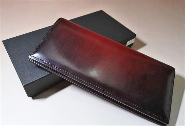 YUHAKU財布を箱と一緒に撮影した写真