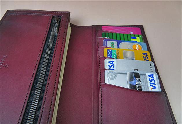 6枚のカードをいれてみた写真