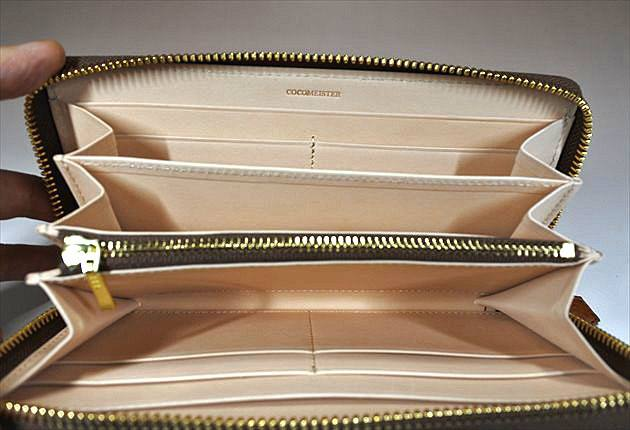 マックスラージの内装の美しいヌメ革の写真