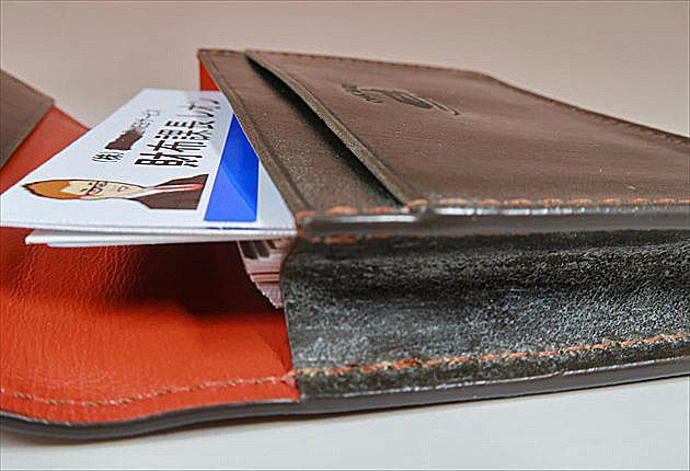 オークバークマークスベリーに財布課長レオンの名刺を30枚入れました