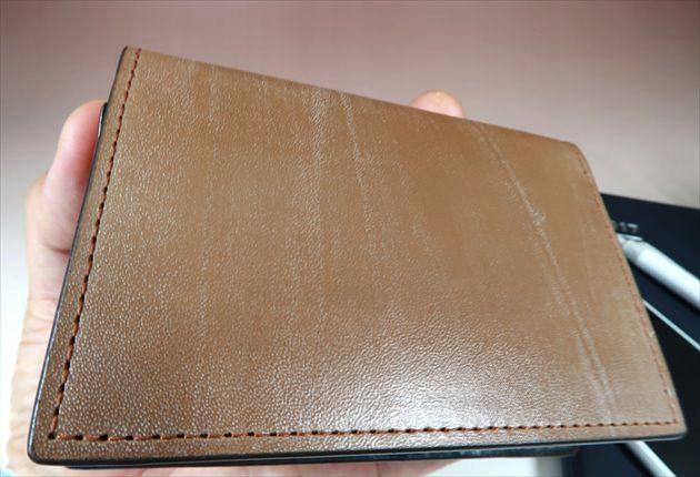 オークバーク皮革のドアップ写真