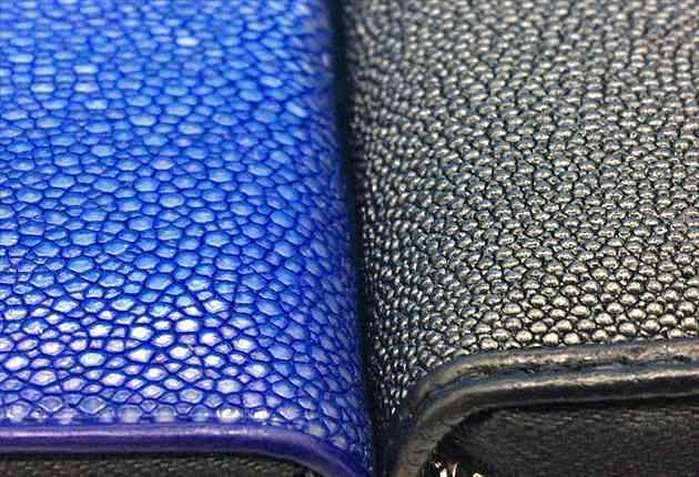 ポリッシュブルーとパールブラックの比較写真