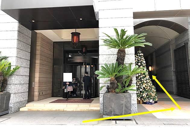 神戸オリエンタルホテルの正面玄関