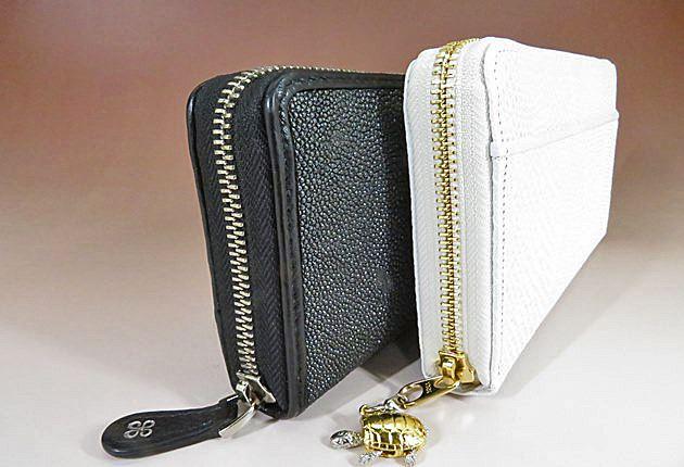財布を立てて長さを比較