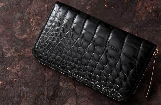 日本最上級の池田のクロコダイル財布