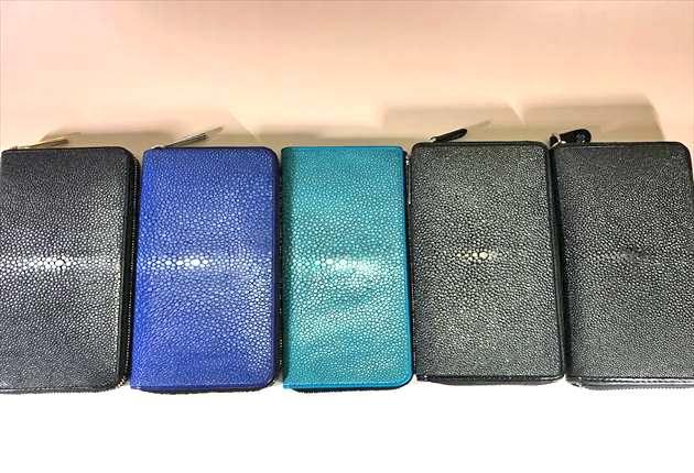 BAHARI財布を5個並べてみた写真